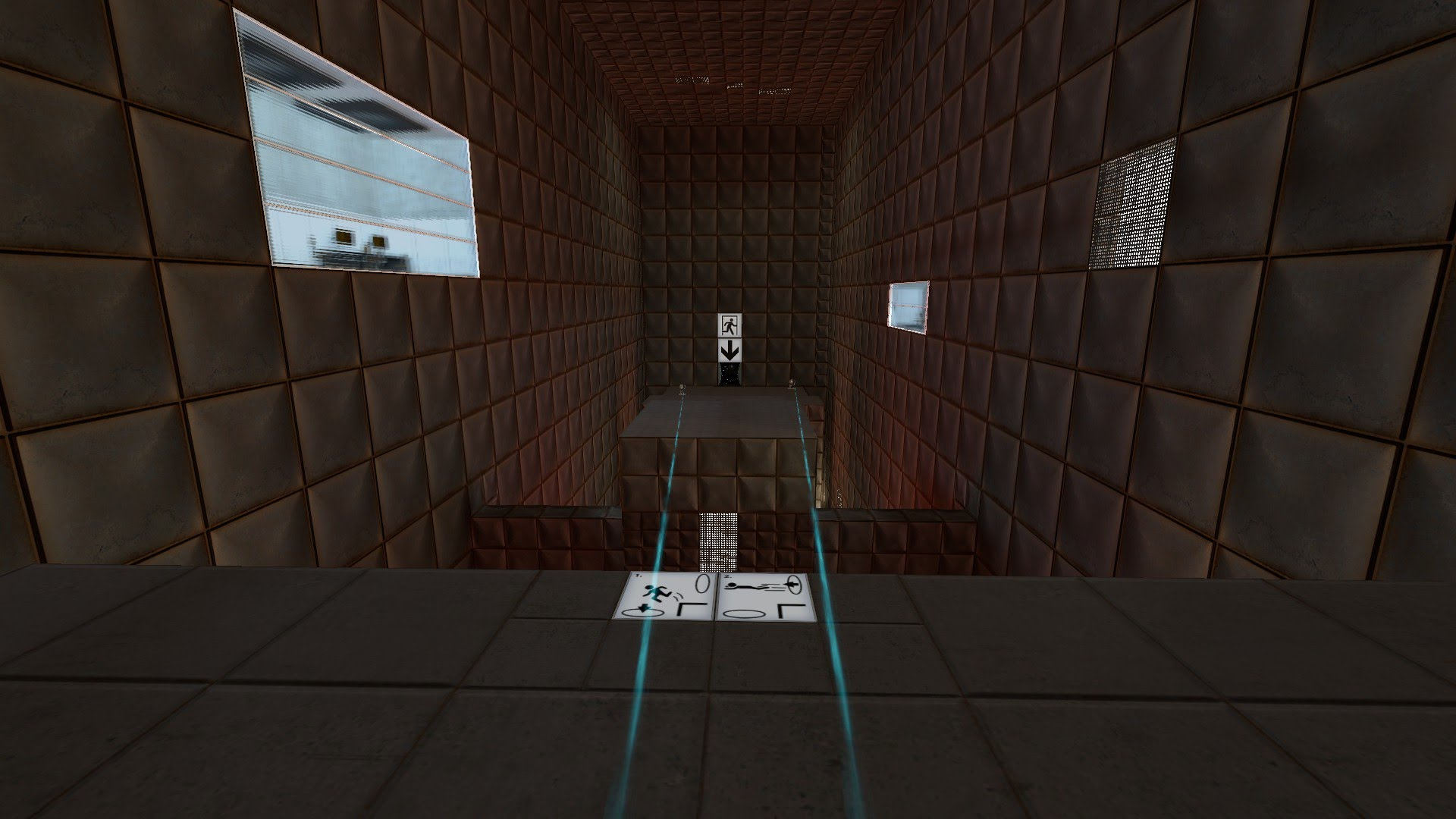 Missile launchers target the player in the third room.